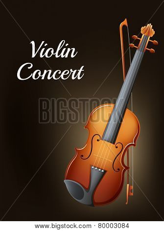 Illustration of a violin concert poster