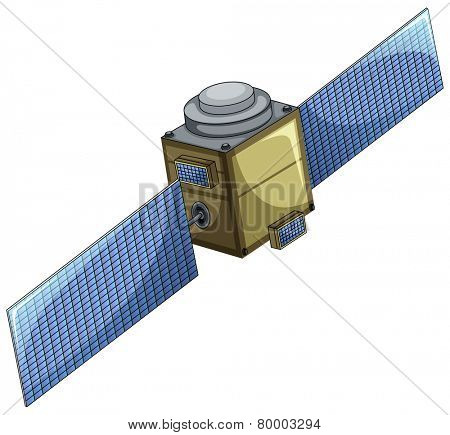 Illustration of a single satellite