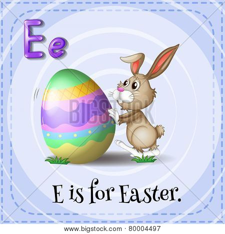 A letter E which stands for Easter