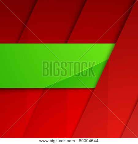 Modern Layout Layered Background Folder Badge
