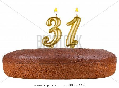 Birthday Cake Candles Number 31 Isolated