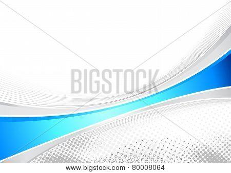 Blue Business Layout Folder Speed Line