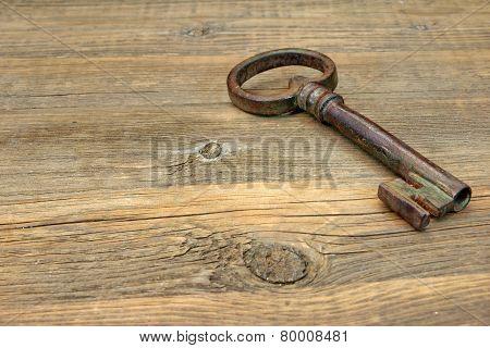Old Rusty Iron Key
