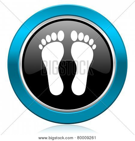foot glossy icon