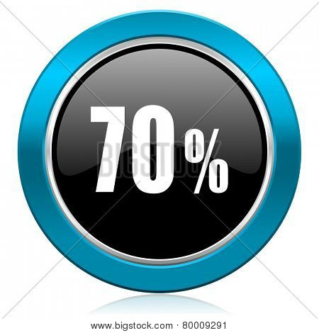 70 percent glossy icon sale sign