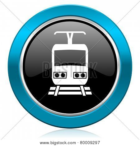 train glossy icon public transport sign