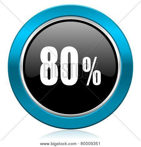 80 percent glossy icon sale sign