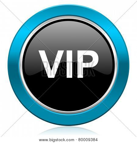 vip glossy icon