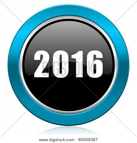 new year 2016 glossy icon new years symbol
