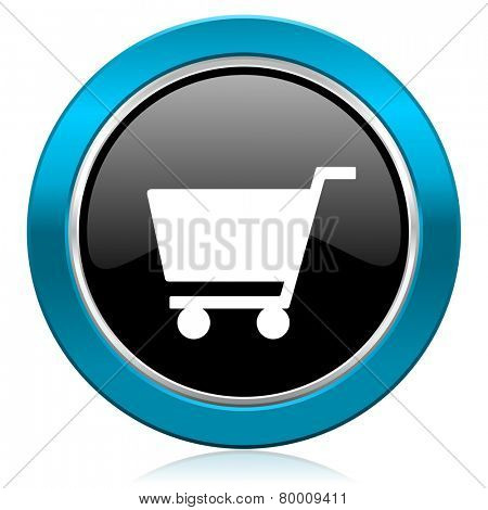 cart glossy icon shop sign