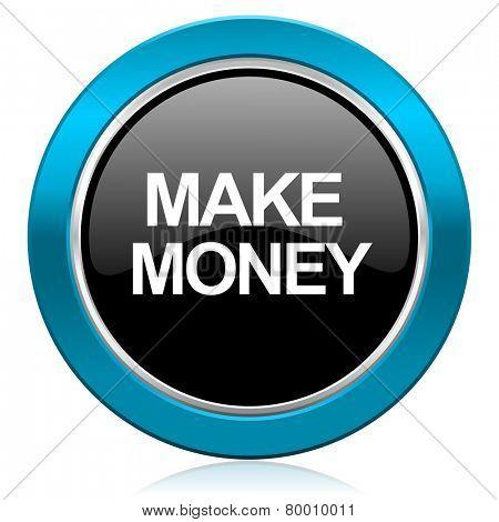 make money glossy icon