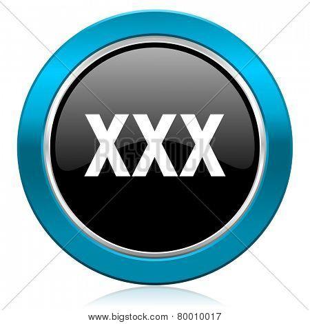 xxx glossy icon porn sign