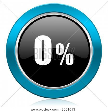 0 percent glossy icon sale sign