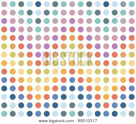 Seamless Colorful Chevron Pattern, Dotted