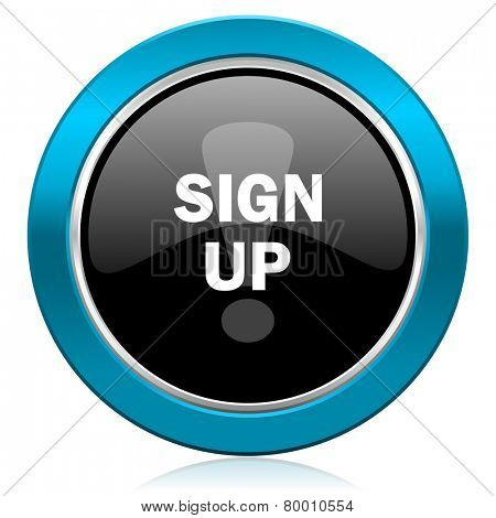 sign up glossy icon