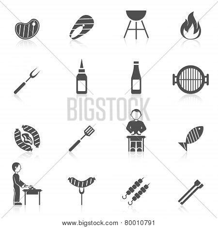 Bbq Grill Icon Black