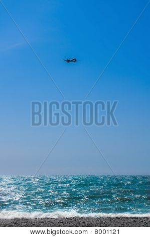 The Plane In The Blue Sky