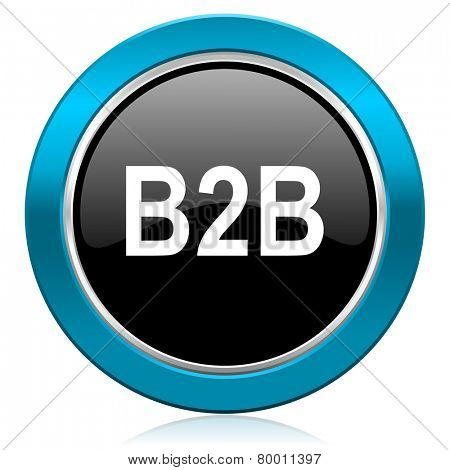 b2b glossy icon