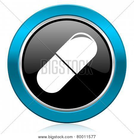 drugs glossy icon medical sign