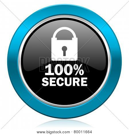 secure glossy icon
