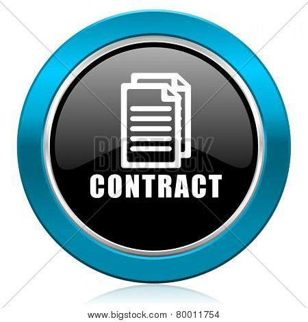 contract glossy icon