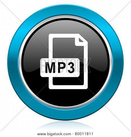 mp3 file glossy icon