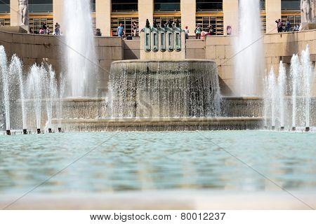 Paris - Fountains at Tracadero