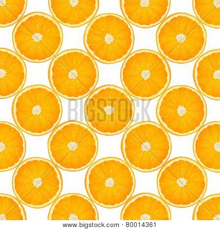 Background With Citrus-fruit Of Orange Slices. Close-up. Studio Photography.