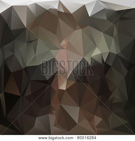 Vector Polygonal Background - Triangular Design In Anthracite C