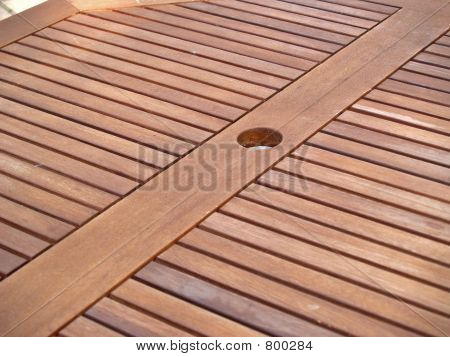 Outdoor table plank