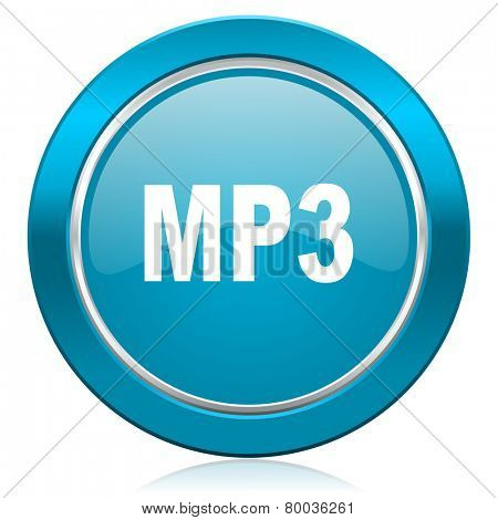 mp3 blue icon