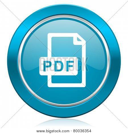 pdf file blue icon