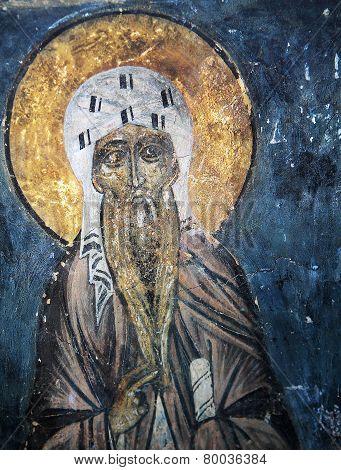 frescoe in Church of the Transfiguration of Our Savior, Novgorod, Russia,