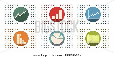 Abstract Flat Color Icon Set For Your Design