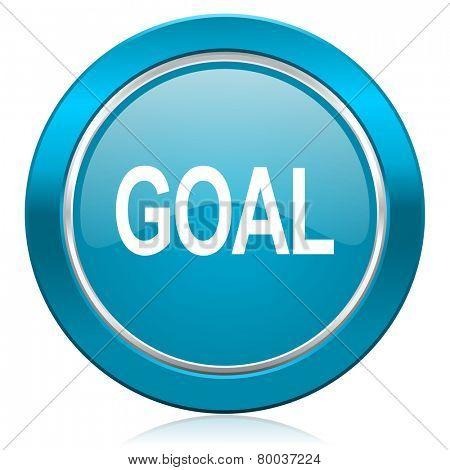 goal blue icon