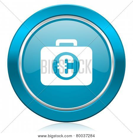 financial blue icon