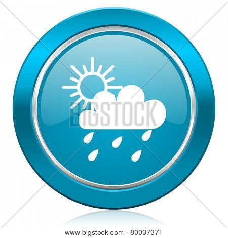 rain blue icon waether forecast sign