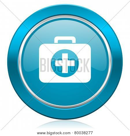 first aid blue icon hospital blue icon