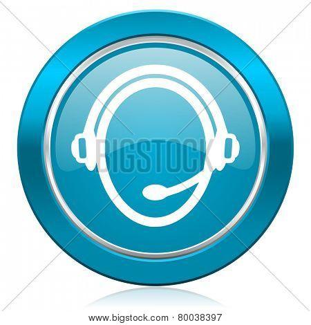 customer service blue icon