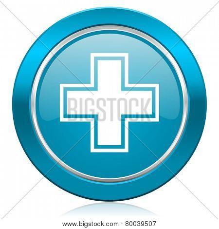 pharmacy blue icon