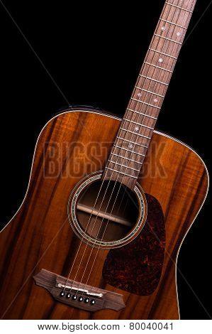 Acoustic Guitar On Black