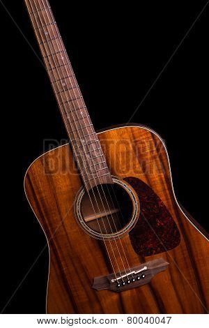 Acoustic Guitar On Black