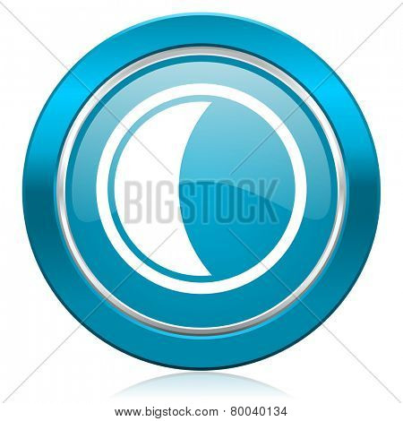 moon blue icon sleep sign