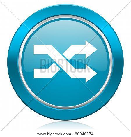 aleatory blue icon