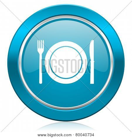 eat blue icon restaurant symbol