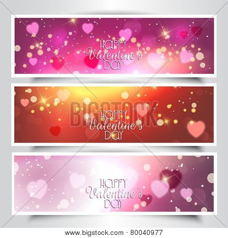 Collection of Valentine's Day headers