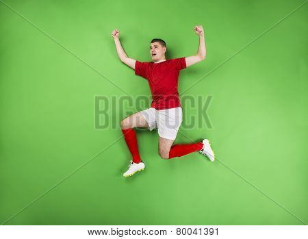 Victorious football player