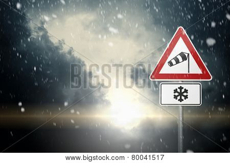 Bad Weather - Caution - Risk of Wind, Snow and Ice