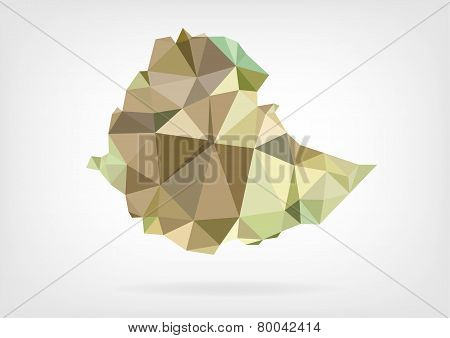 Low Poly map of Ethiopia