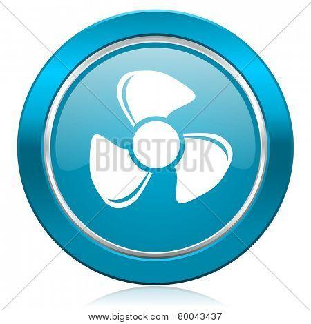fan blue icon